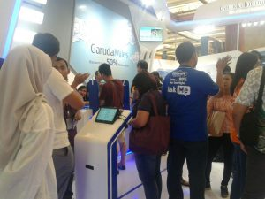 sewa mesin antrian antrianqu garuda travel fair 2