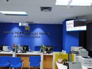 mesin antrian kantor pajak